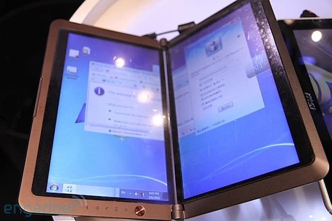 MSI dualscreen e-reader hands-on (update: video!)