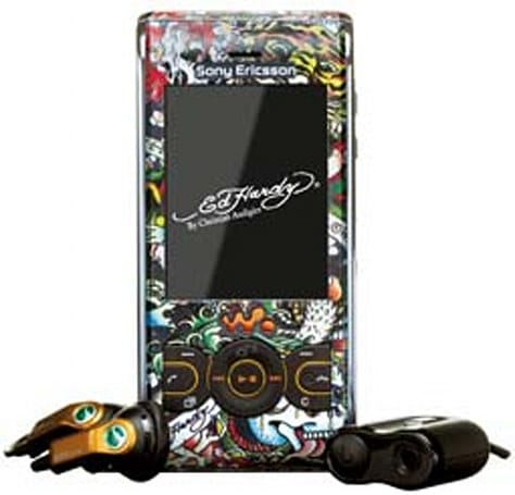 Sony Ericsson W595 shows off its Ed Hardy tats