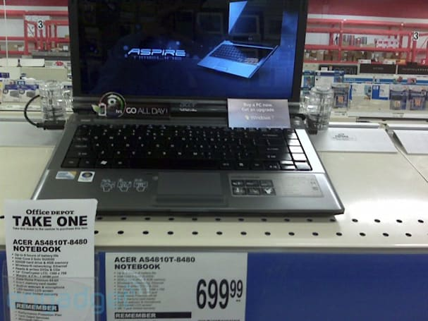 Acer Timeline 8000 series arrives at Office Depot