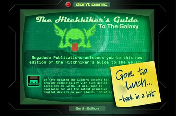 Hothead's Hitchhiker's Guide to the Galaxy app coming this fall