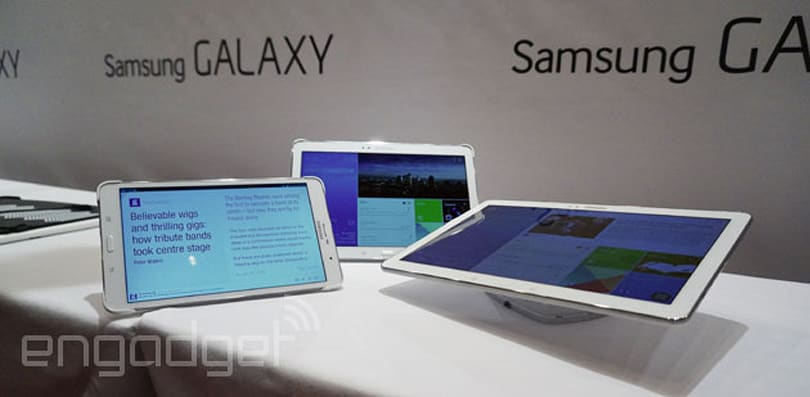 Samsung's new Galaxy Tab Pro series comes in 12-, 10- and 8-inch sizes, but looks a little too familiar (hands-on)