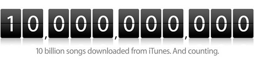 Apple serves up 10 billionth iTune, smiles all the way to the bank