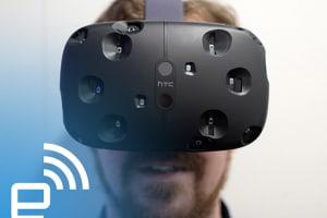 The HTC Vive Virtual Reality Headset