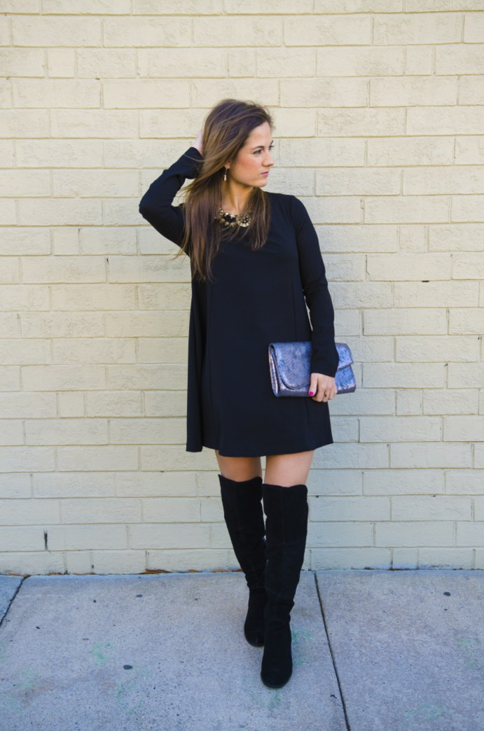 Turn your LBD into a holiday-ready outfit