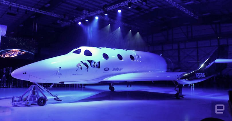 Virgin Galactic unveils the new SpaceShip Two, named the VSS Unity