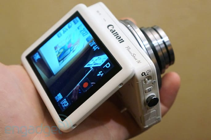 Canon PowerShot N hands-on (video)