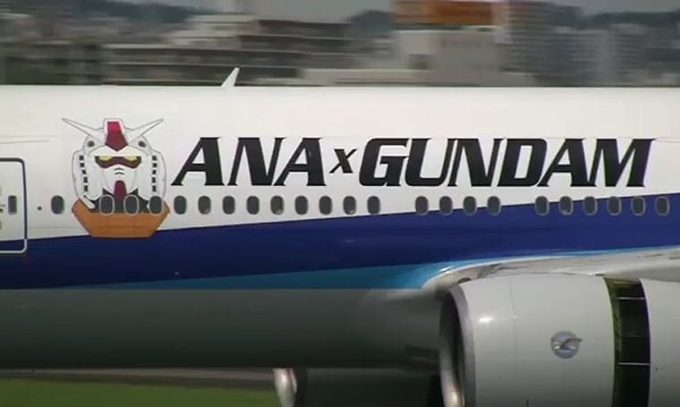 ANA's Gundam Jet embarks on maiden voyage (video)