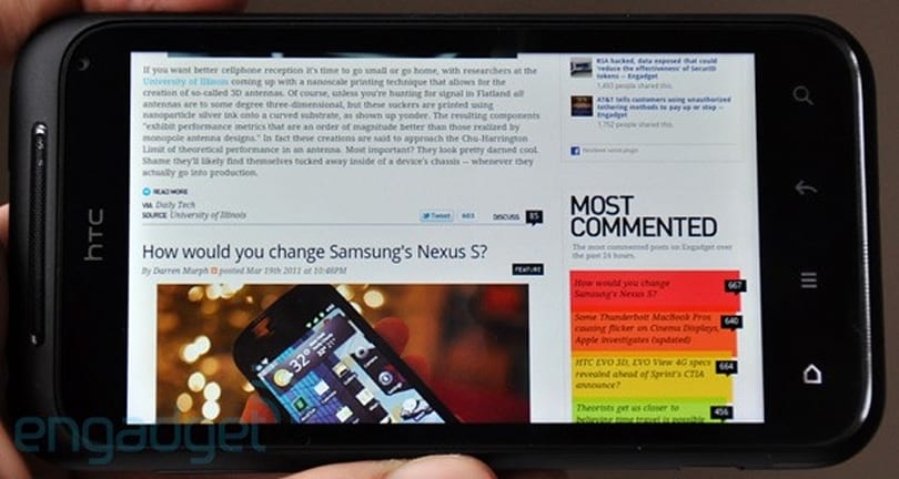 Ice Cream Sandwich update won't be coming to HTC's Incredible S, says Bell Mobility