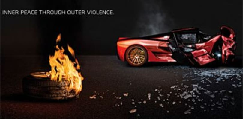 Burnout Dominator advertisement causes controversy