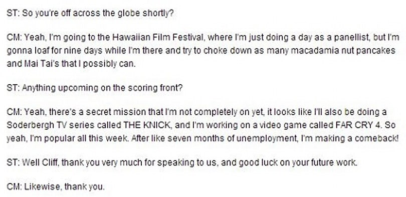 'Drive' composer Cliff Martinez mentions work on Far Cry 4
