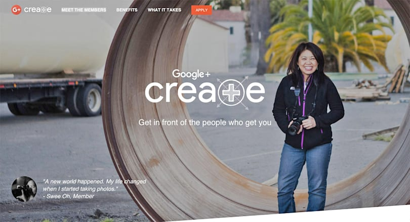 Google+ Create program will highlight experts in their field