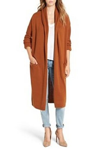 Leith Easy Fit Long Cardigan