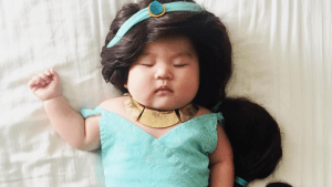Mom Dresses Her Napping Baby in Costumes