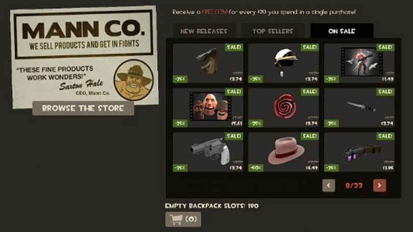 Team Fortress 2's '2nd Annual Manniversary' sale begins