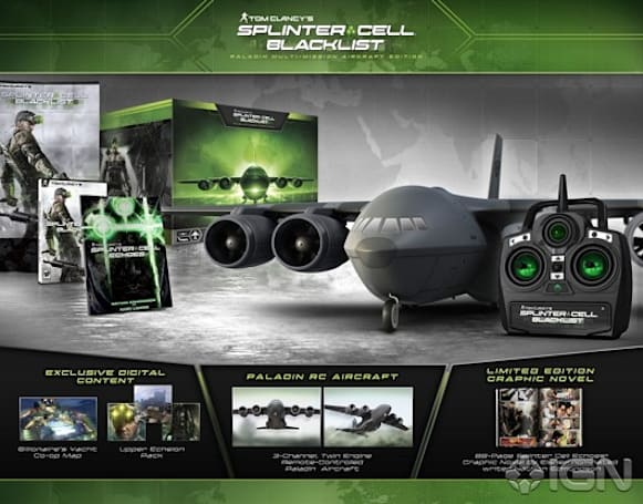 Splinter Cell: Blacklist collector's edition includes a remote-controlled plane