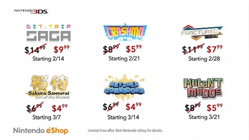 3DS eShop games going on sale including Bit.Trip Saga today
