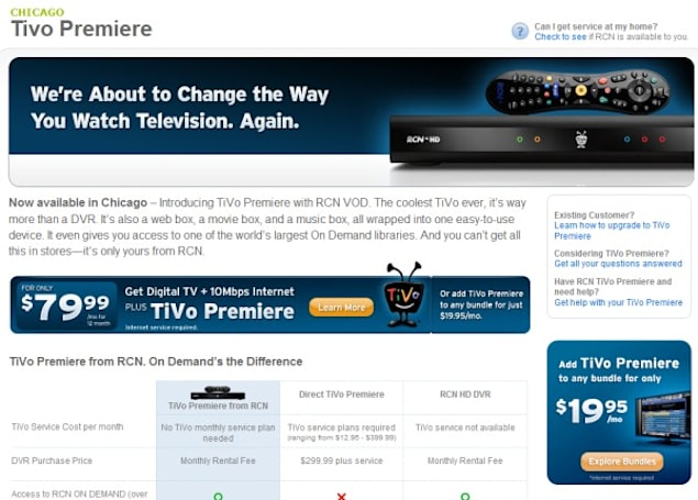 RCN launches TiVo in Chicago, credits positive customer response for accelerated rollout
