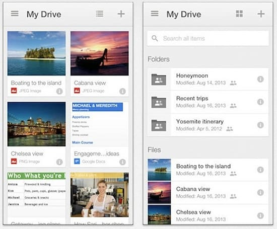 Google Drive updates for iOS with multiple-account support and cloud printing