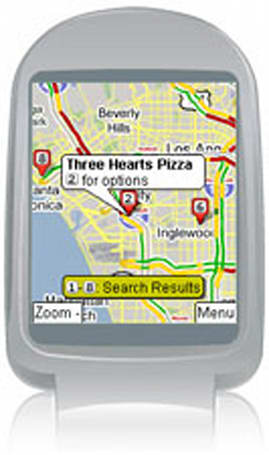 Google maps for mobile gets GPS