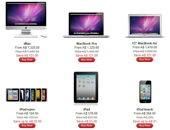 Apple's Australian Store discounts most things by around 10 percent, foreshadows Black Friday deals