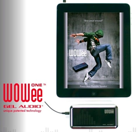 WOWee One portable speaker latches onto surfaces, iPad's coattails