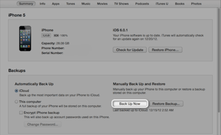 iOS 7 Quick Guide: Back up now!