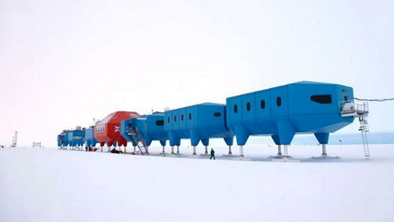 New Antarctic research lab has extendable legs, can crawl over the ice