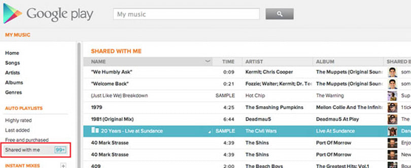 Google Play adds shared song playlist to Music, helps you relive your friends' terrible taste in tunes