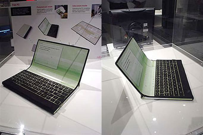 "Fujitsu shows off ""Fab PC"" laptop concept"