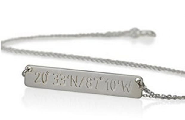 Personalized Coordinate Necklace