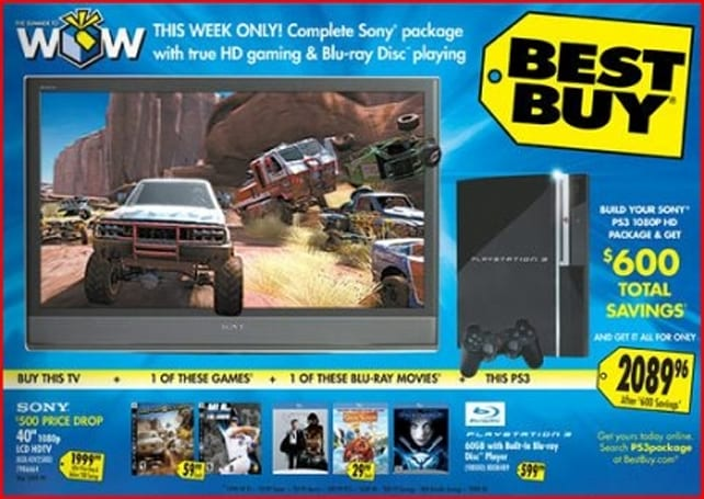 Best Buy offers sweet PS3 bundle with 1080p HDTV