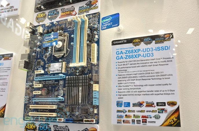 Gigabyte Z68XP-UD3-iSSD motherboard eyes-on
