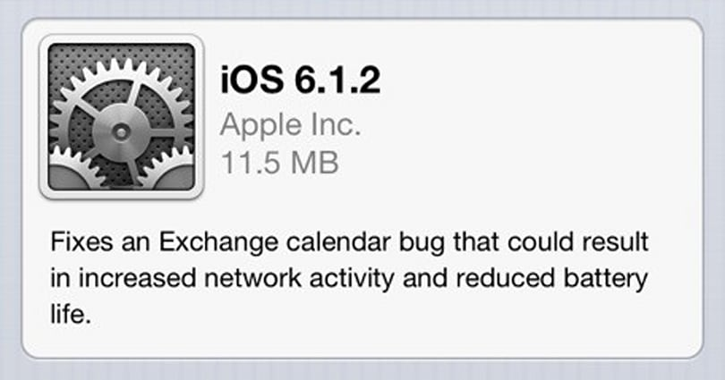 iOS 6.1.2 now available (updated)