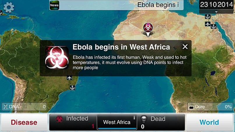 Plague Inc. picks up more players during Ebola outbreak