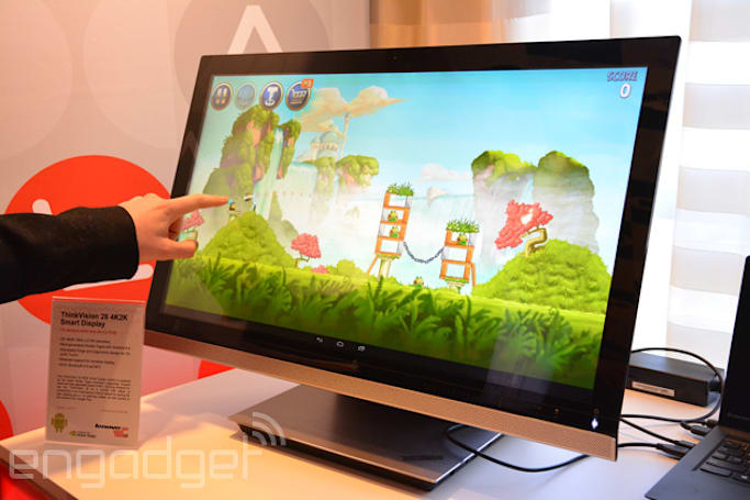 Lenovo trots out a 4K Android-powered all-in-one, with a standalone monitor to match
