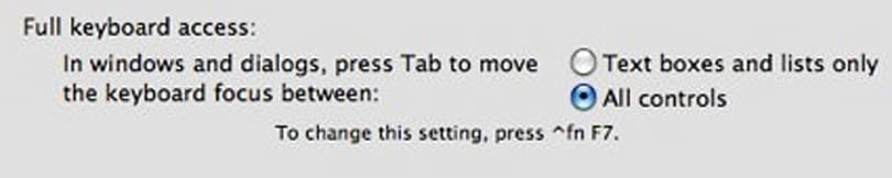 Mac 101: use a tab to navigate dialogs