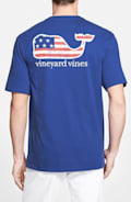 'American Flag Whale' Graphic T-Shirt