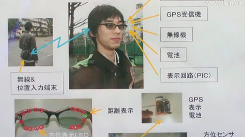 Innocent glasses transform into GPS-equipped routing mechanism... on video!