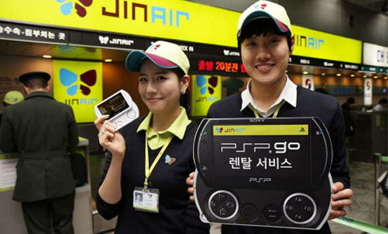Rent a PSP Go on your next South Korean flight