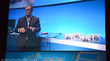 Intel CEO controls a swarm of robot spiders with gestures