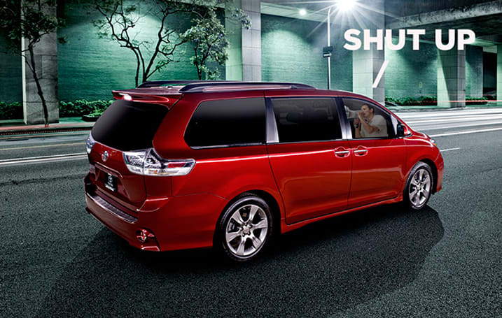 Toyota's next minivan will let you shout at your kids without turning around
