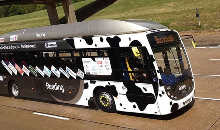 The speed record for poo-powered buses is 77mph, apparently