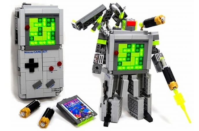 Transforming LEGO Game Boy and Tetris carts roll out