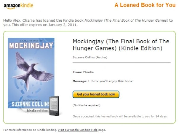 Amazon enables Kindle e-book lending