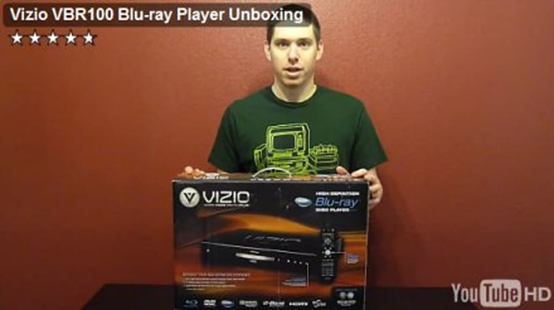 VIZIO VBR100 Blu-ray player freed from superstore confines, unboxed on video