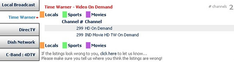 Where Is HD? integrates VOD into listings