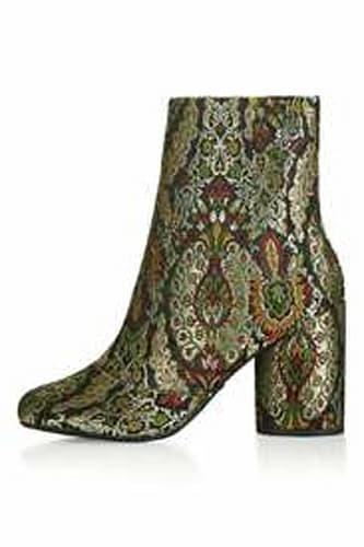 Topshop Jacquard Ankle Boots