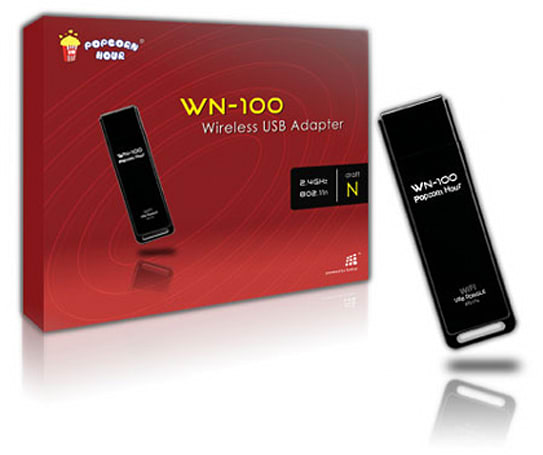 Popcorn Hour's WN-100 dongle brings WiFi to your A-100, A-110 or B-110