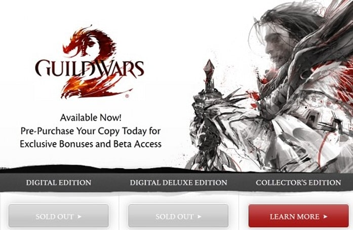Guild Wars 2 sells out of digital editions