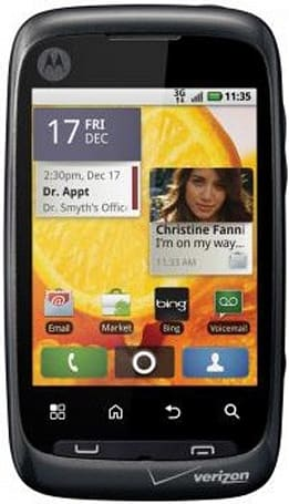 Motorola Citrus budget candybar outed by Verizon, sports Android 2.1 and Blur